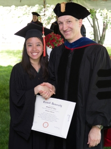 Michelle Chin and MSE Department Chair Prof. Darrell Schlom
